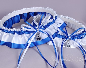 Los Angeles Dodgers Wedding Garter Set