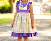 Girls Summer Dress - Ruffle Dress - Flutter Sleeve Dress - Toddler Girl Dresses - Birthday Party Dress - sz 2T to 8