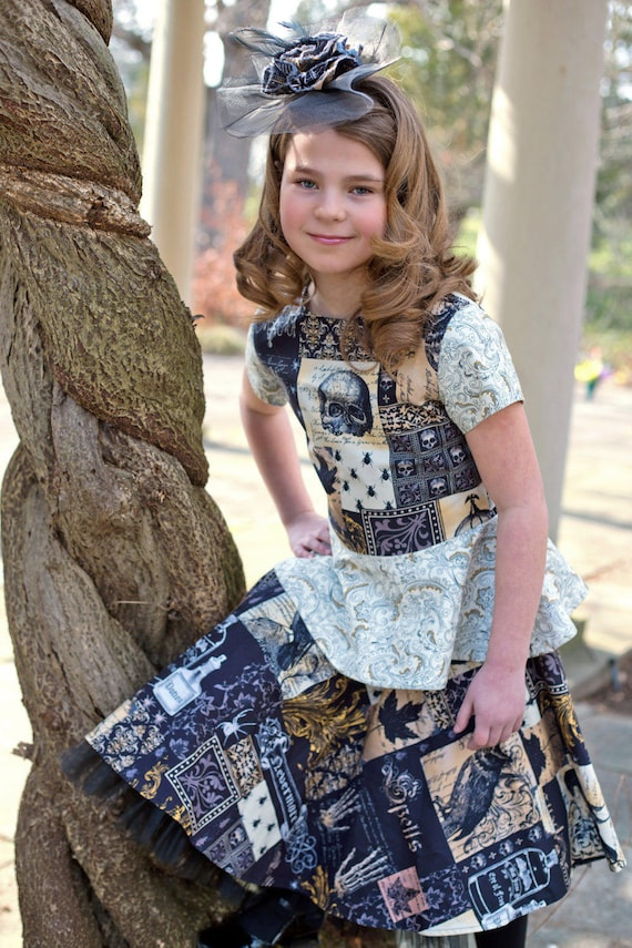 Steampunk Kids Costumes | Girl, Boy, Baby, Toddler Steampunk Clothing - Dress for Girls - Toddler Outfit - Gothic Clothing - 2T to 8 yrs $89.99 AT vintagedancer.com