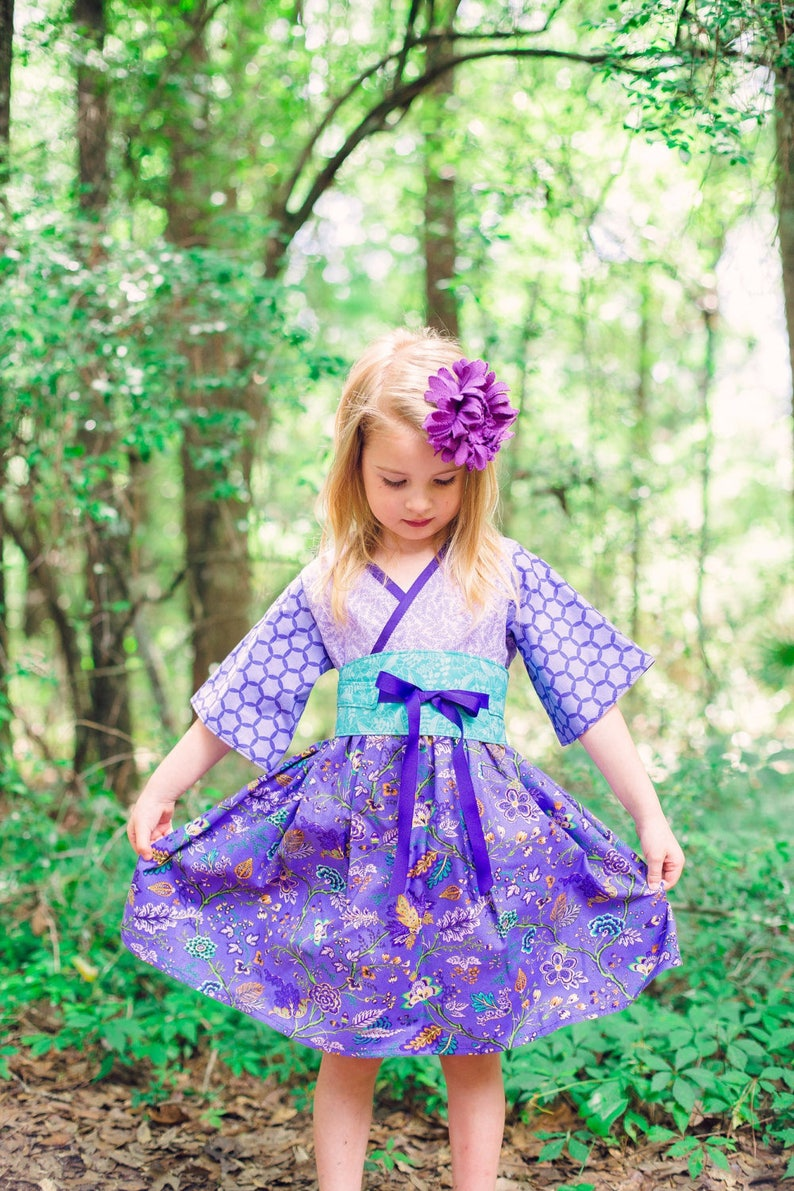 912e880b Purple Tea Party Dress for Girls Handmade in sizes 12 months | Etsy