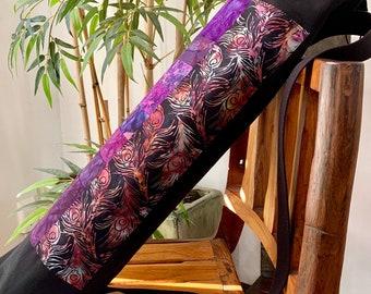 Pilates Bag-Large Yoga Bag-Pro Yoga Bag Mat Bag- Peaceful Llamas Premium Mat Bag-  Pro Yoga Bag Batik Yoga Bag Made to Order