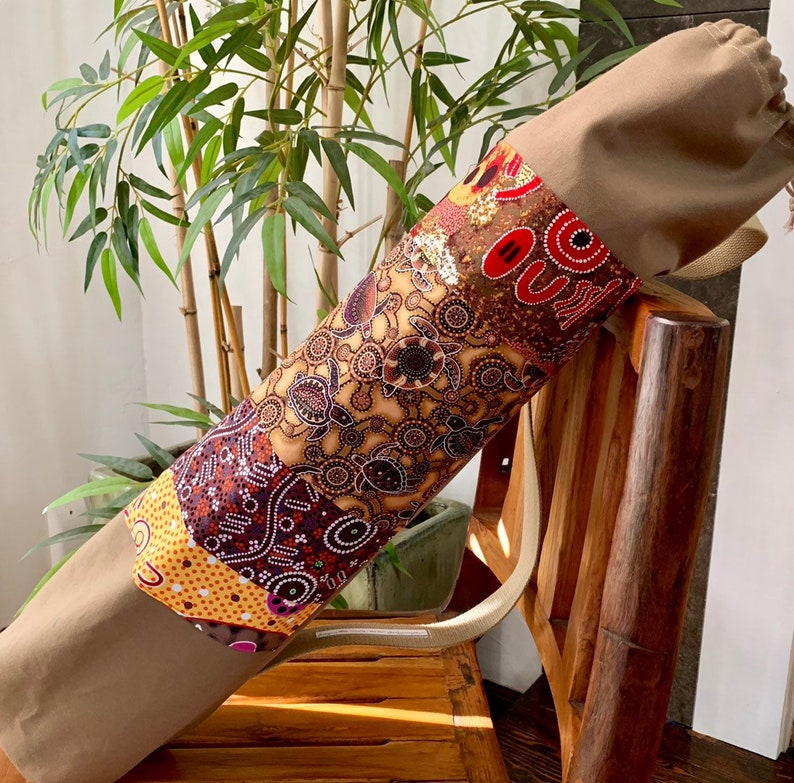 Large Yoga Bag-Mat Bag Ethnic Asian African Batik Aboriginal Yoga Bag Made to Order-Premium Mat Bag-Pro Yoga Bag-Pilates Bag