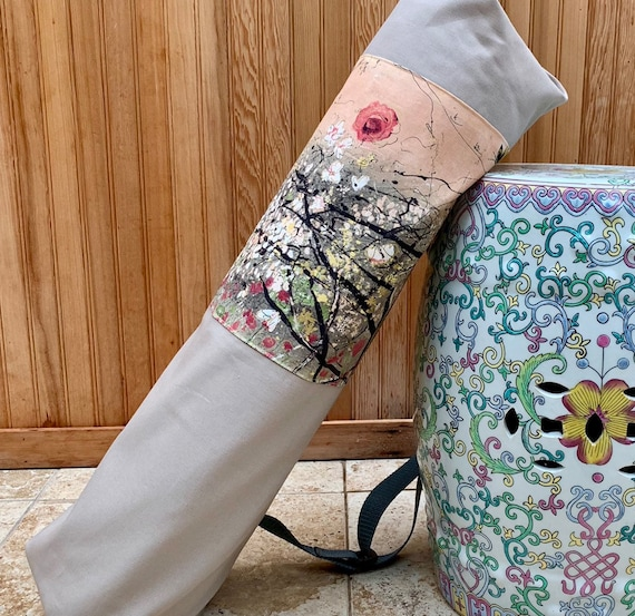 Pilates Mat Bag Yoga Bag Ready to Ship Large Yoga Bag   28 long by 21 around Premium Large with pull tie-30 inch strap- Pro Yoga Bag
