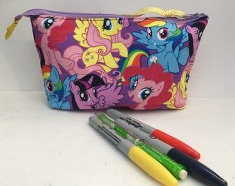 "My Little Pony Zipper Pouch 9"" x 5"" x 2.5"""