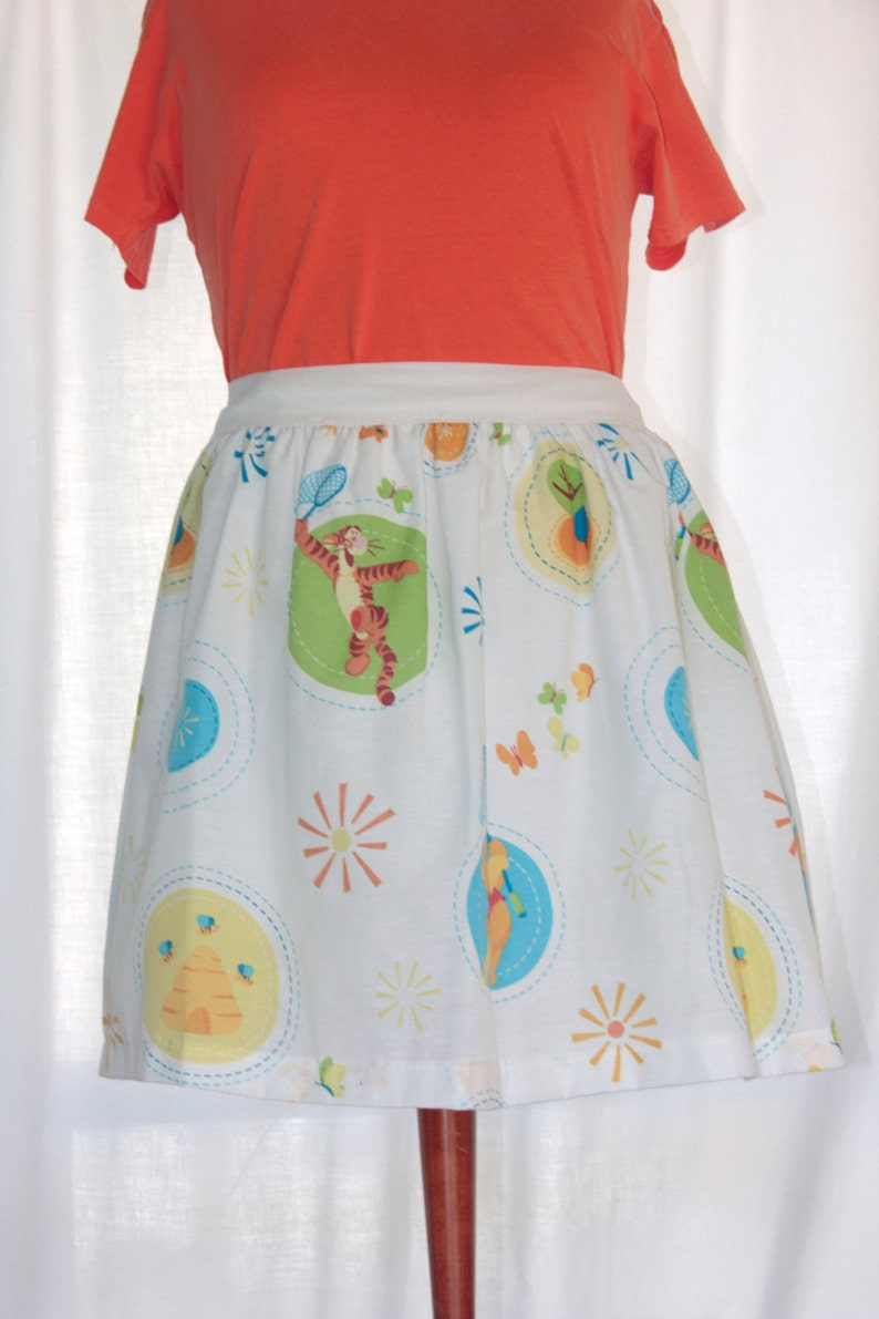 5466aefe186ee Sweet Disney's Winnie the Pooh & Tigger Ladies Skirt from upcycled fabric -  - Medium 25