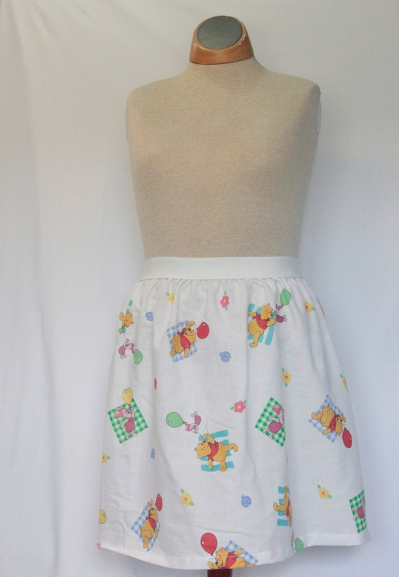 e82fc917c37a2 Disney's Winnie the Pooh & Piglet Ladies Skirt from upcycled vintage fabric  - - Medium 22