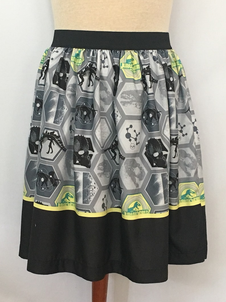 5a9c1255c944a Awesome Jurassic World/Park Ladies Skirt from upcycled fabric- 34-40