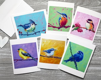 Songbird Variety Blank Note Cards, Songbird Stationery Set, Songbird Note Cards Blank, Sympathy Cards, Miss You Cards, Condolence Cards