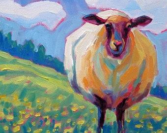 Sheep - Sheep Art - Sheep Print - Paper - Canvas - Wood Block