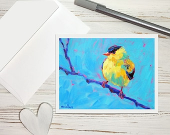Goldfinch Stationery Set, Thank You Stationery for Women, All Occasion Greeting Cards Set, Thank You Notes Cards All Occasion Note Cards