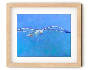 Seagull Art Print Coastal Bird Wall Art, Seagull Art Print Large, Shorebird Wall Art Print, Shore Bird Prints Wall Art, Ocean Bird Art
