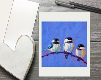 Chickadee Note Cards All Occasion, Bird Stationery Set With Envelopes, Stationery for Women, Blank Thank You Cards, Any Occasion Card Set