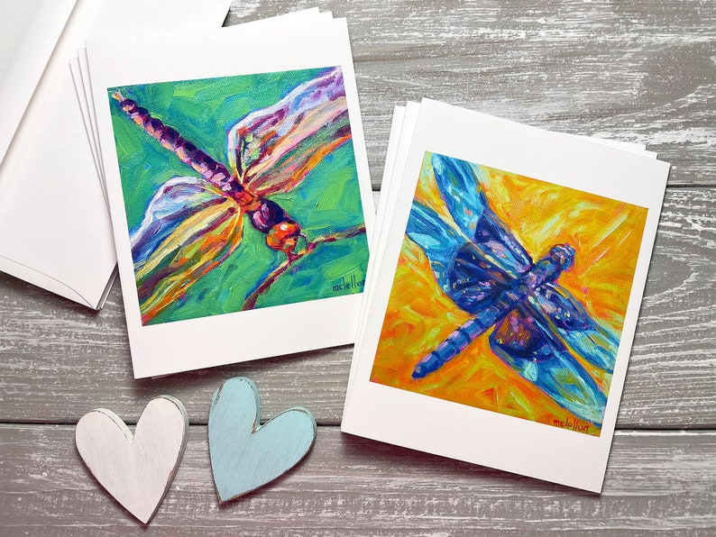 Dragonfly Note Cards Dragonfly Blank Note Cards Set Of 6 image 0