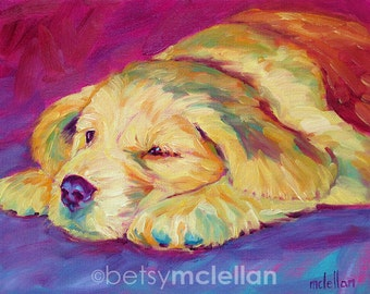 Golden Retriever Puppy - Paper - Canvas - Wood Block