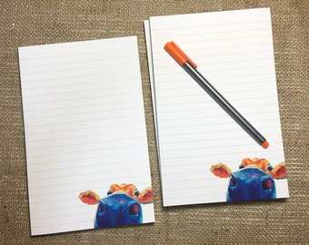 Nosey Cow Notepad, Animal Notepad for Kids, Notepad for Adults, Stationery for Women, Notepads for Women, Notepad for Teacher, Kids Notepad