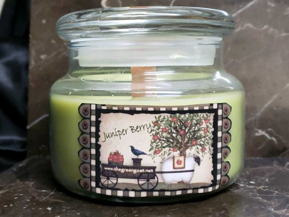 uniper Berry Soy Wood Wick candle