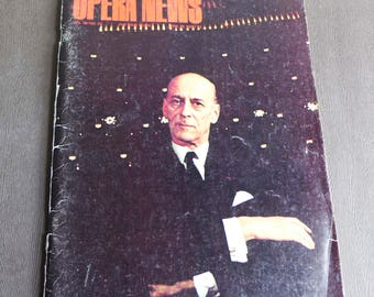 OPERA NEWS Vol 36 NO. 22 The Bing Years April 22, 1972 Rudolf Bing Vintage Metropolitan Opera History Magazine