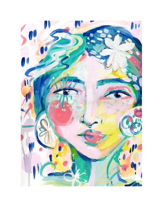 New York Lady Abstract Face Abstract Face Abstract Color Face