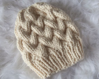 Cloud Braided Cable Beanie