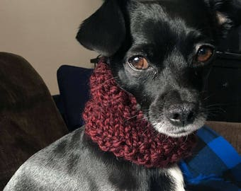 Claret Dog Scarf Cowl - Small