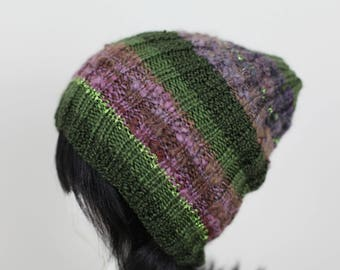 Green Ribbed Beanie