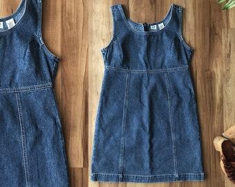75cbcfe19c 90s Sleeveless Denim Dress