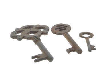 Assorted rustic key set, package of 3 keys , P4325RU/Mix