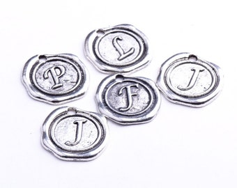 Wax Stamped Style Letters-Charms