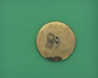 Button , 29mm Antique gold   Sew on button, 2 hole, flat back,  OB9890AG set of 4