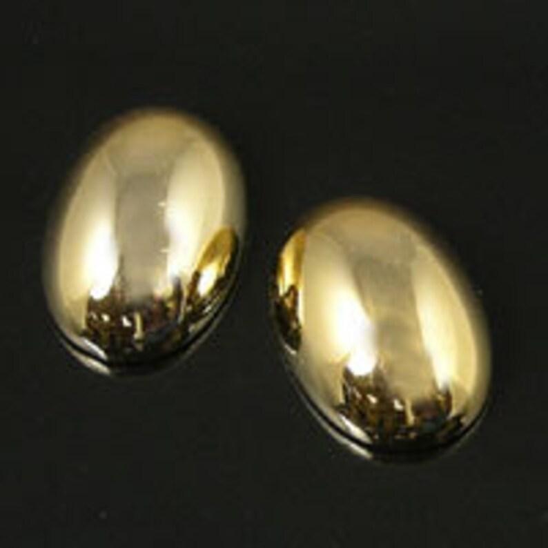 6108.93 250 pieces 14x10 Metallic Gold Cabochon Flat Back