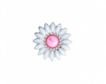"Daisy Screw back attachment conchos, enamal floral , order by color , .75"" width ,"