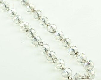 Beaded Rosary Chain  Glass, 3 ft