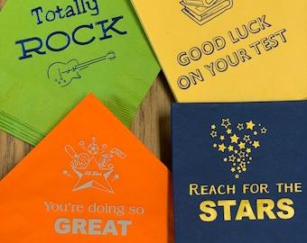 Boy friendly set: Kids Paper Napkins for Lunches. Lunchbox napkins for kids. Fun kids napkins. Back to school supplies. Napkins
