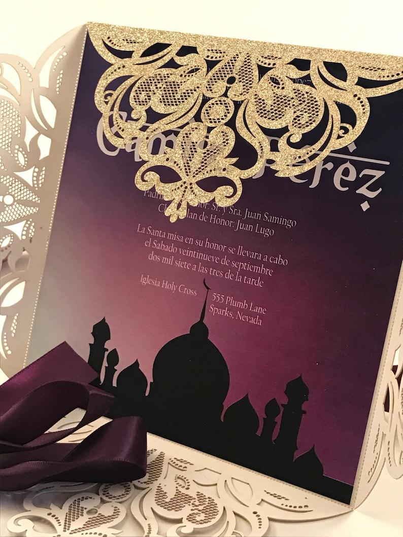 Arabian Night Invite Bollywood Invitation Quinceanera Etsy
