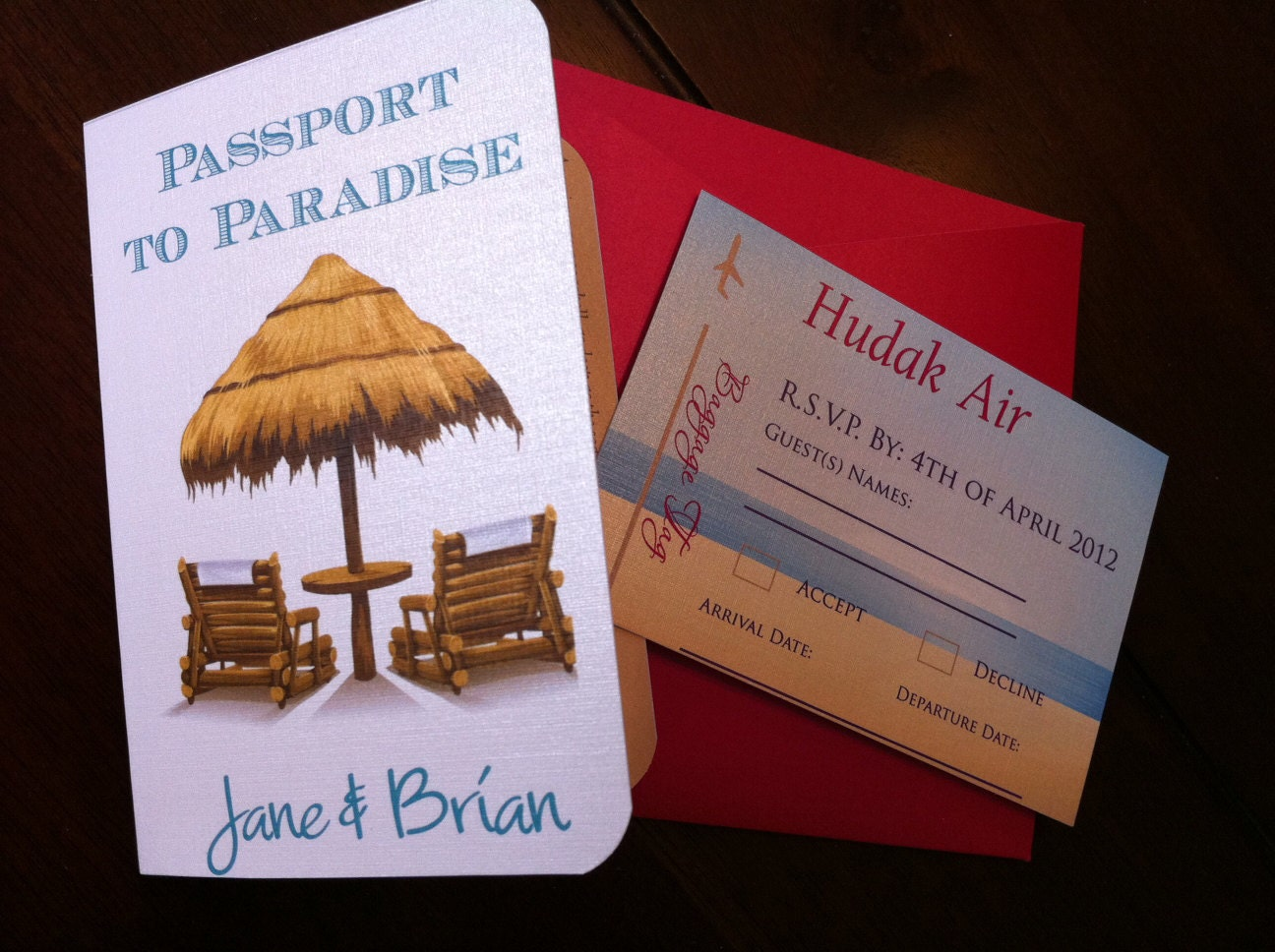 Destination Wedding Invitations Etsy: Passport Wedding Invitation. Destination Wedding