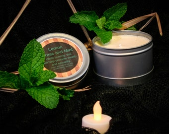 Lemon Grass and Mint homemade apothecary candle