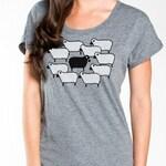 Black Sheep Women's T-Shirt, Boxy, Flowy Tee, Short-Sleeve Scoop Neck Tee, Artsy t-shirt, Gift Women