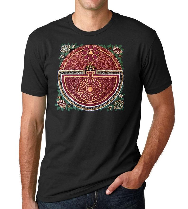 63353591 Mandala T-shirt Tibetan Thangka Mens graphic tee Buddhist | Etsy