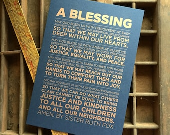 A Blessing by Sister Ruth Fox