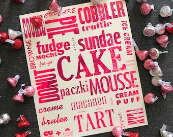 Sweet Treats Letterpress Poster