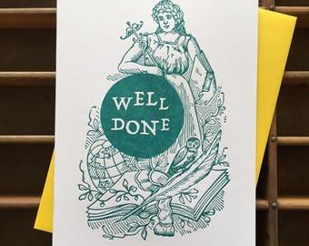 Well Done Letterpress Card