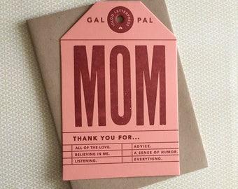 MOM Letterpress Card/Tag