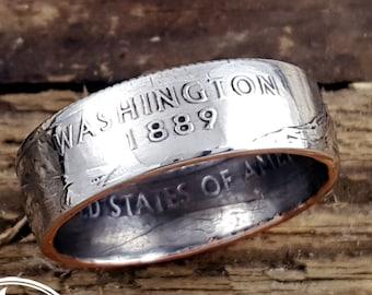 Washington Coin Ring - Washington State Quarter Ring - Washington Ring - Washington Jewelry - Coin Jewelry - State Ring - State Jewelry
