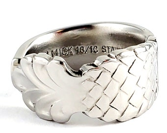 Pineapple Spoon Ring - Stainless Steel Spoon Ring - Flatware Jewelry - Chunky Band Ring