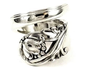 MARTHINSEN Vintage TH NORWAY  Spoon Ring Size 6 Art Nouveau Style
