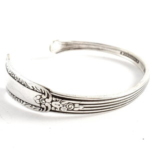 Big Bulky Bracelets Spring Hinged Fork Bracelet in Fancy Design 7 Flatware Jewelry