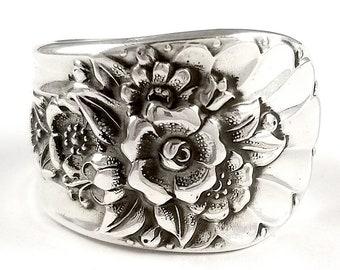 Jubilee Spoon Ring - Silver Spoon Ring - Vintage Spoon Ring - Floral Spoon Rings