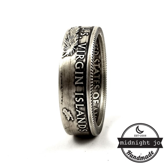 National Park Coin Ring /& Charm Necklace Coin Necklace Stackable Coin Ring Narrow Band Coin Ring