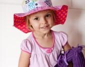 Flower sun hat for girls,...