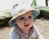 Baby boy sun blocking hat...